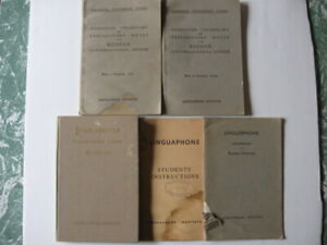 (5) RUSSIA LINGUAPHONE BOOKS INTRO TO GRAMMAR & CONVERSATIONAL COURSE