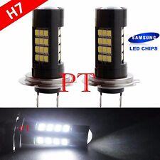 H7 Samsung LED 42-SMD Super White 6000K Headlight Xenon Light Bulbs Low Beam