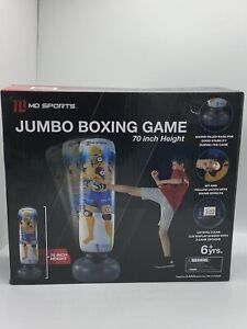 "Md Sports Jumbo 70"" Boxing Game W/ Electronic Scorer Kickboxing Bag Sealed New"