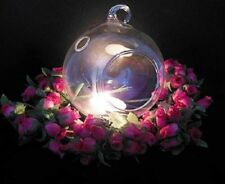 1Box X 4Pcs Clear Ball Glass Hanging Candle Holder Wedding