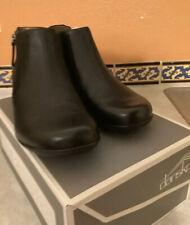 Women's Dansko Fifi Black Milled Nappa Leather Ankle Boot NEW Eu 40 9.5 $165