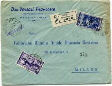 1951 Italia al Lavoro RACCOMANDATA Ditta Versaci Francesco - Messina Pace