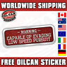 capable of evading low speed pursuit car sticker / 160mm wide / rat / vw