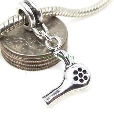 Hair Dryer Dangle Stylist Professional Large Hole Bead for Euro Charm Bracelet