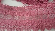 9.5cm- 1 meter Beautiful pale orchid guipure lace trimming for crafting decor