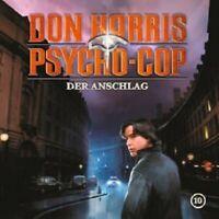 DON HARRIS-PSYCHO COP - 10: DER ANSCHLAG  CD  10 TRACKS KINDERHÖRSPIEL  NEU