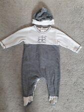 Emile et rose Baby boy navy/white stripe romper with hat age 3 months/62 cm