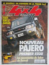 4X4 MAGAZINE N° 221 / PARIS-DAKAR 2000 /PAJERO/TERRANO II /HJ 60 et 61 /FORESTER
