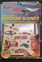 STAR TREK magic cling window scenes