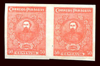 PARAGUAY Sc # 257 Pair Imperforate MH VF