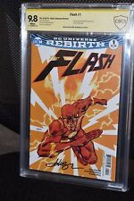 Flash #1 Variant CBCS SS 9.8 Signed Dave Johnson Rebirth CGC