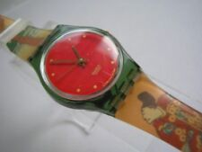 GEISHA! Elegant Red & Gold Asian Themed Ladies Swatch! NIB-RARE!