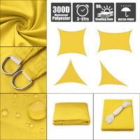 Sun Shade Sail Outdoor Patio Top Canopy Cover 98% Anti-UV Waterproof Yellow US