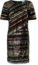 Monsoon Rainey Sequin Stripe Tunic Dress Uk 20 Bnwt Special Occasions Black