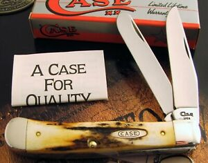 Case Stag Trapper Knife 1993 From Case Board Has RARE 7 DOTS Dating KNOCKOUT! NR