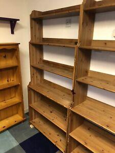 Ikea  Bookcase Leksvik  Antique Pine