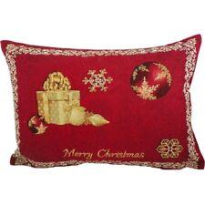 Kissen Merry Christmas - Weihnachten Rot Gobelin ca 35x45 cm Landhaus Zierkissen