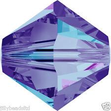 Swarovski 5328 Xilion Bicone Beads  4mm : Crystal Heliotrope (50 beads)