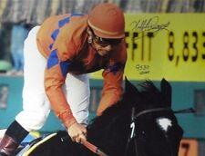 Laffit Pincay signed Horse Racing 16X20 Photo 9530 Career Wins