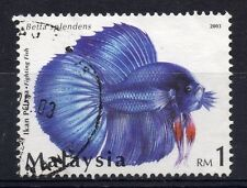 MALAYSIA = 2003 Siamese Fighting Fish. 1Rm. Blue Fish. SG1135. Fine Used.