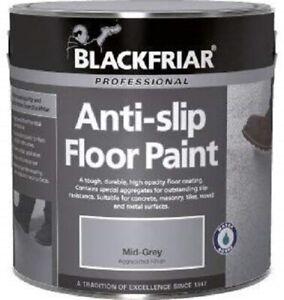 Blackfriar Anti Slip Floor Paint Indoor Outdoor Hard Wearing Mid Grey 1L