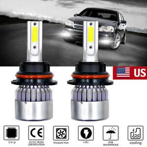 2X 9007/HB5 Faro Luces Fuertes For Auto Coche Luz Carro Bulbs LED SUPER Blanco