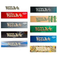 RIZLA GREEN PAPERS KING SIZE SLIM ULTRA THIN ROLLING PAPER RIZLA SILVER SKINS