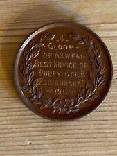 More details for antique great dane bronze dog show medal famous dog 1911