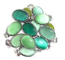 Christmas Offer !! 50 PCs. Calcite Gemstone 925 Sterling Silver Plated Pendant