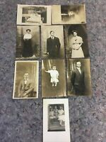 Lot Of Antique RPPC Real Photo Postcards-Pretty Women-Cute Kids