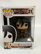 Rare Boxed Funko Pop Animation 21 Mikasa Ackerman Vinyl Figure Attack Titan #752