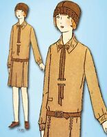 1920s Vintage Butterick Sewing Pattern 2198 Uncut Girls Flapper Dress Size 8