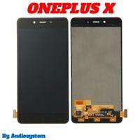 DISPLAY LCD +TOUCH SCREEN SCHERMO ONEPLUS X E1001 E1003 1+X MONITOR VETRO NERO