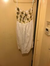Asos White And Gold Bandeau Dress Size 16