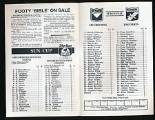 1990 Fosters Cup Melbourne v Essendon Semi Final Football Record won by Demons