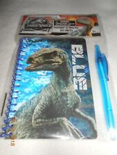 New kids Jurassic World stationery set & Blue pen back to school notebook 60 pgs