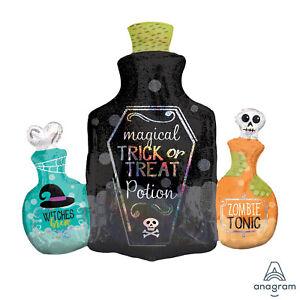 Halloween Magique Potion Bouteille Grand Feuille Ballon Super Forme Sparkle