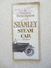 Original 1918 Stanley steamer Model 735 promotional booklet - Stanley steam car