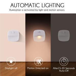 1/3 X Automatic LED Night Light Wall Sticker Energy Saving Sensor Hallway Lights