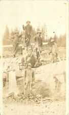 c1910 Mining Pnuematic Drill Occupation Workers RPPC Real Photo