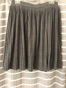 Mossimo Accordion Pleat Skirt Charcoal Grey Modest Knee Length Spring Summer