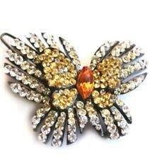 Beautiful jeweled butterfly barrette