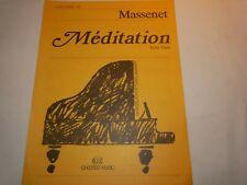 SHEET MUSIC - MEDITATION FROM THAIS - MASSENET - EASY PIANO NO: 58