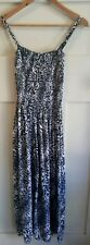 Leopard Animal Print Spaghetti Strap Maxi Women's Summer Beach Dress One Size