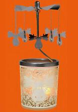 Teelichtpyramide Lichtkarussell Windlicht Glas  Elch