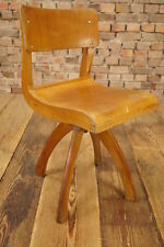 Vintage Chaise d'enfants Bois Chaise/CASALA Chaise pivotante à roulettes
