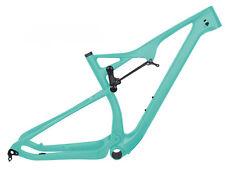 """29er Full Suspension Carbon Frame EPS MTB Mountain Bike Green 21"""" BB92 165*38mm"""