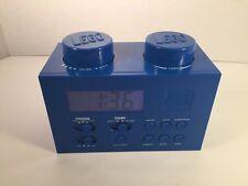LEGO LG11007 Portable Digital Alarm Clock Radio AM FM Blue Building Block TESTED