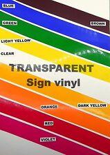 Sign vinyl - A4 sheet (210x297mm) - (gloss) transparent green