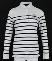 GANT Striped Long Sleeve Women's Casual Cotton Top Polo Shirt Blouse Size:M